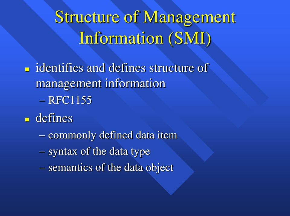 information RFC1155 defines commonly defined