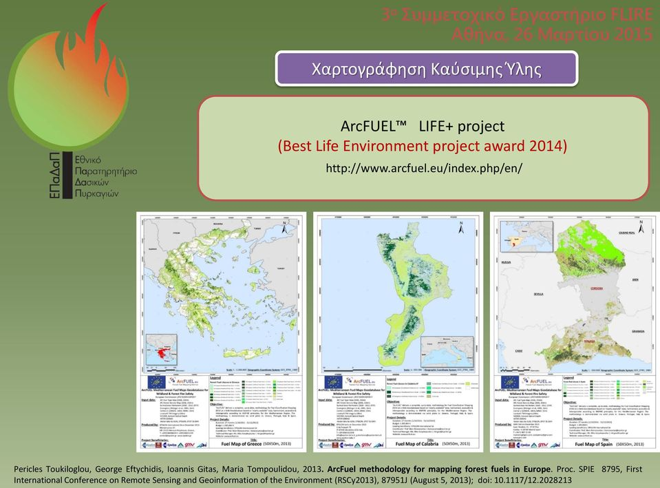 ArcFuel methodology for mapping forest fuels in Europe. Proc.