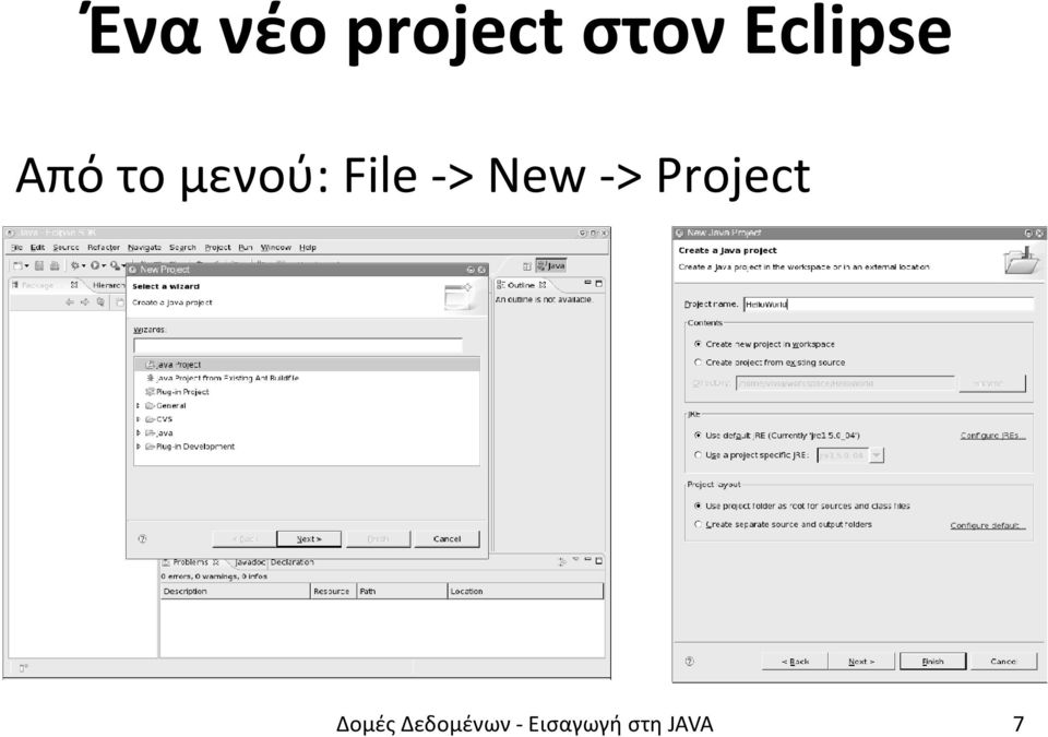 File -> New -> Project