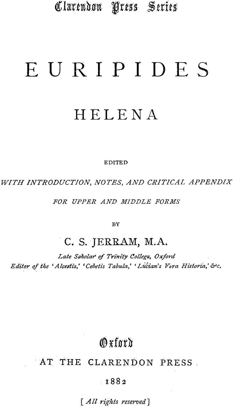 D MIDDLE FORMS BY C. S. JERRAM