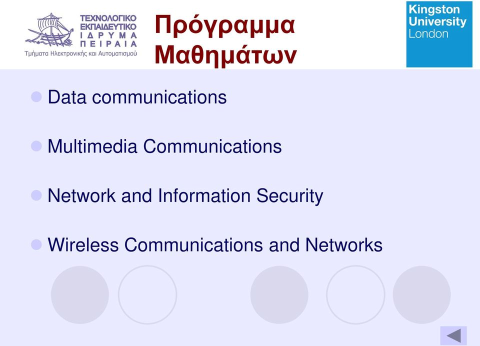 Communications Network and