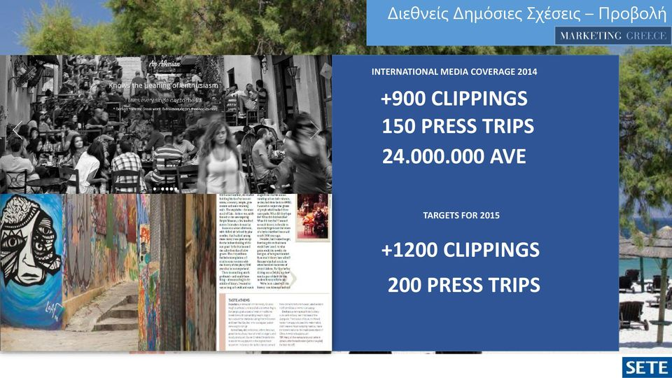 CLIPPINGS 150 PRESS TRIPS 24.000.