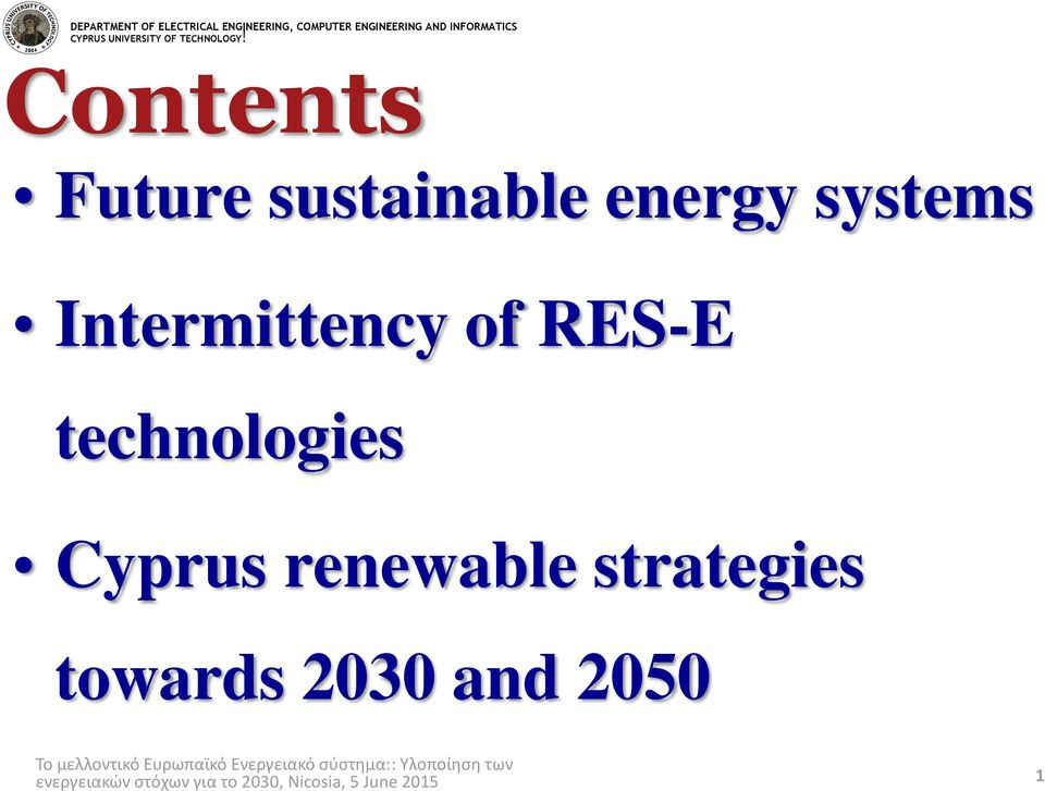 RES-E technologies Cyprus