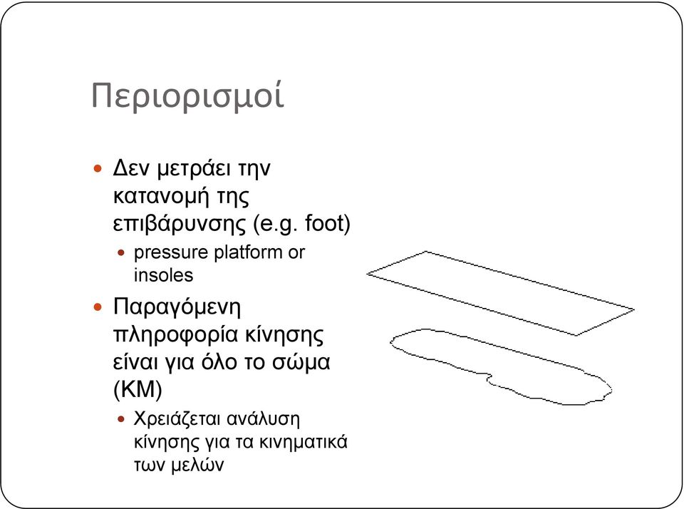 foot) pressure platform or insoles Παραγόμενη
