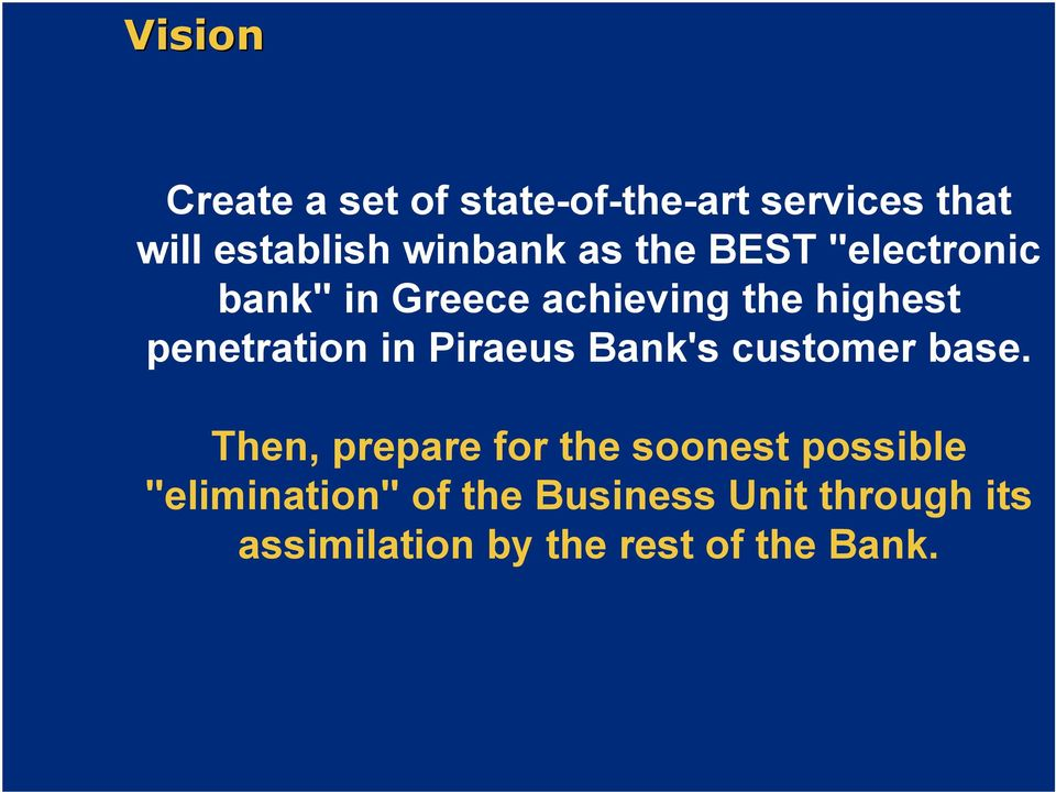 Piraeus Bank's customer base.
