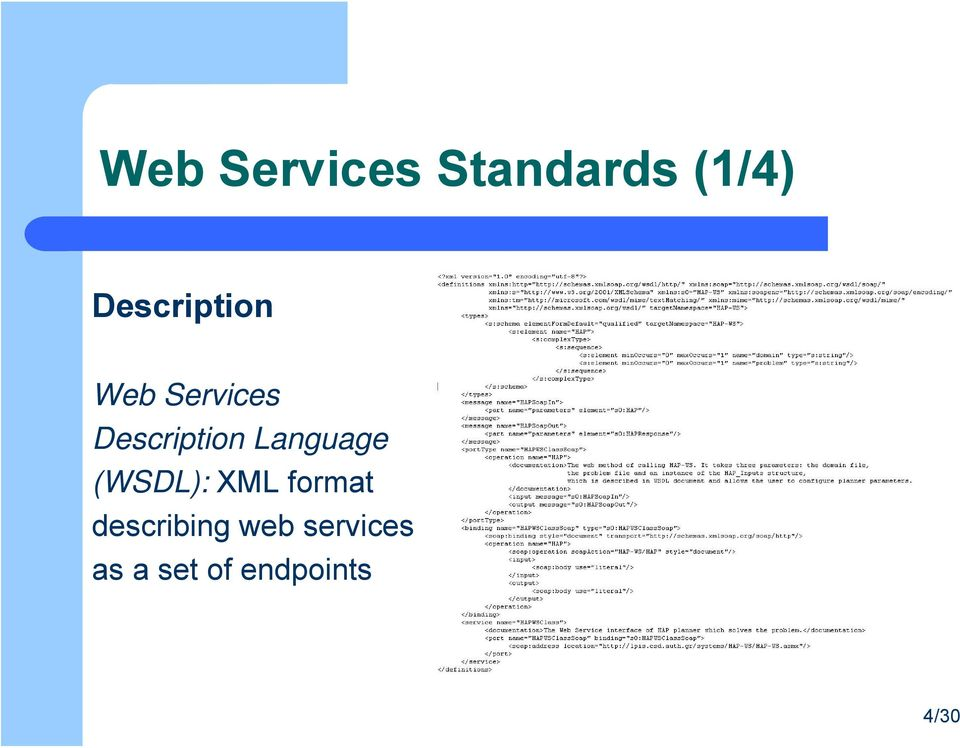 Description Language (WSDL): XML