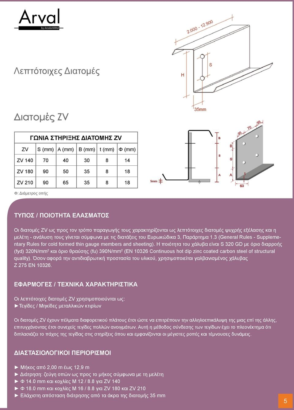 Παράρτημα 1.3 (General Rules - Supplementary Rules for cold formed thin gauge members and sheeting).