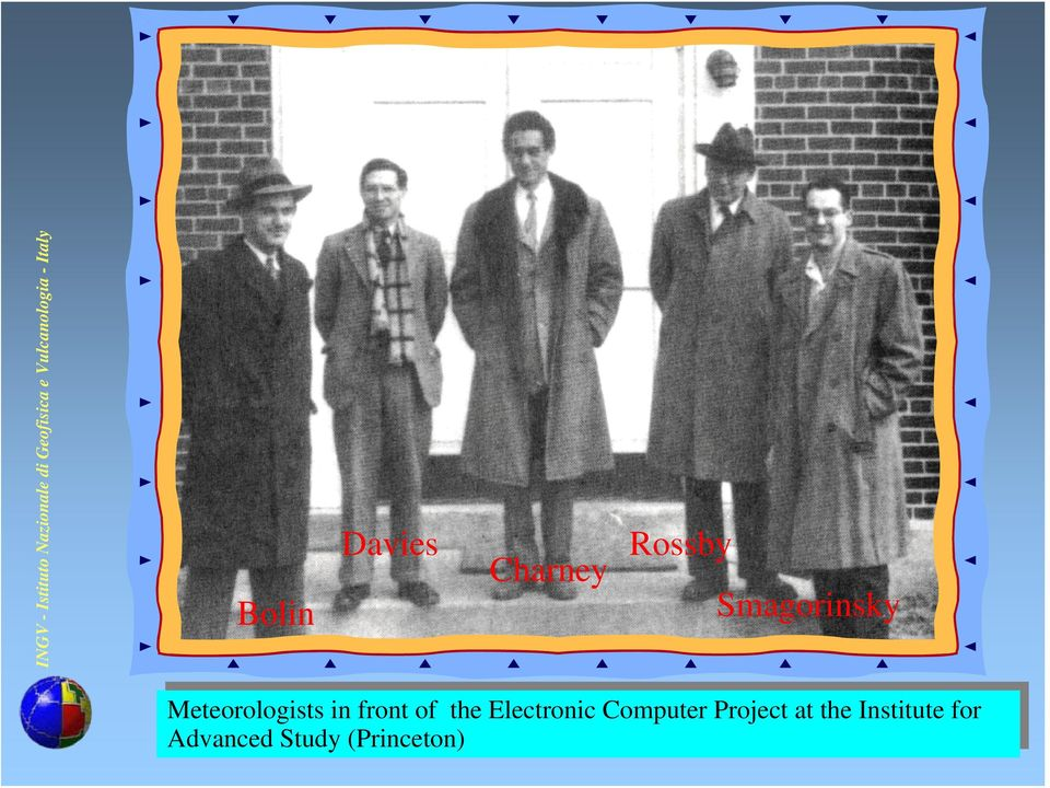 Meteorologists front front Electronic Computer Project