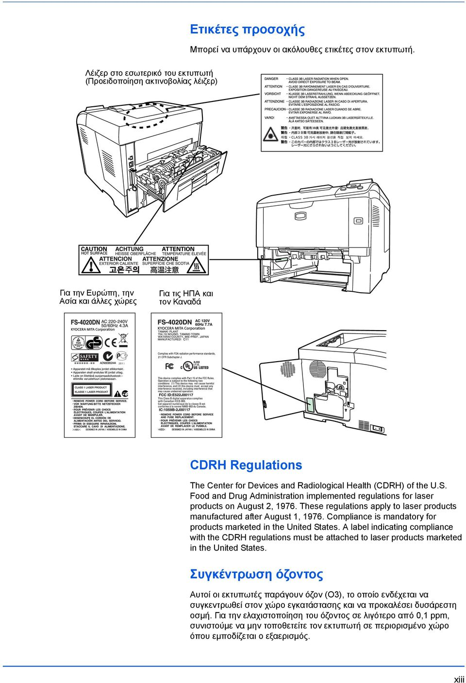 Health (CDRH) of the U.S. Food and Drug Administration implemented regulations for laser products on August 2, 1976. These regulations apply to laser products manufactured after August 1, 1976.