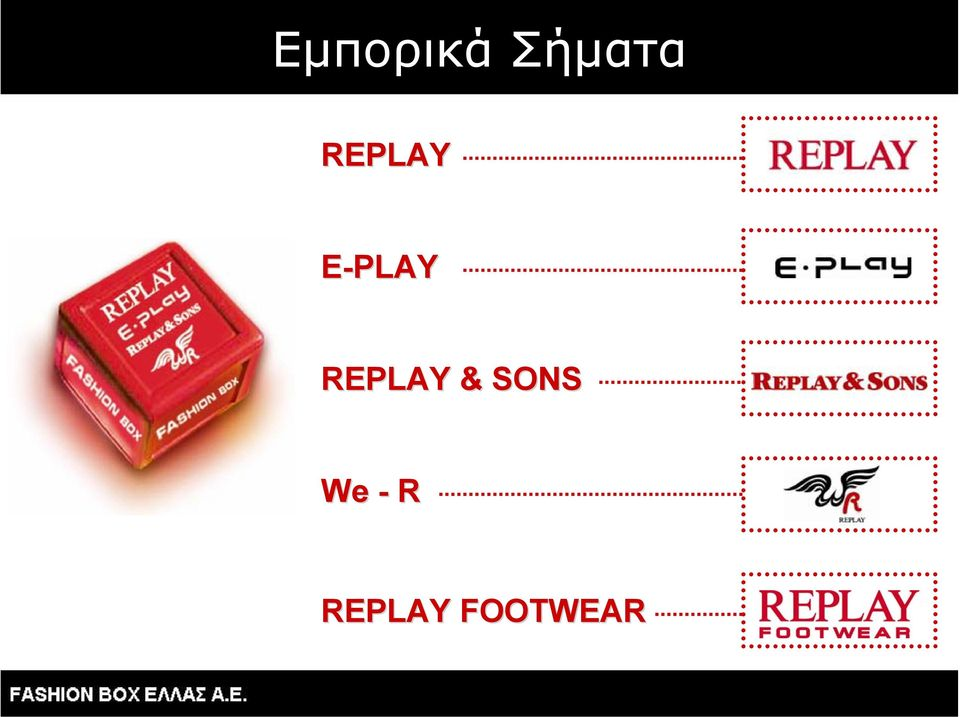 REPLAY & SONS We