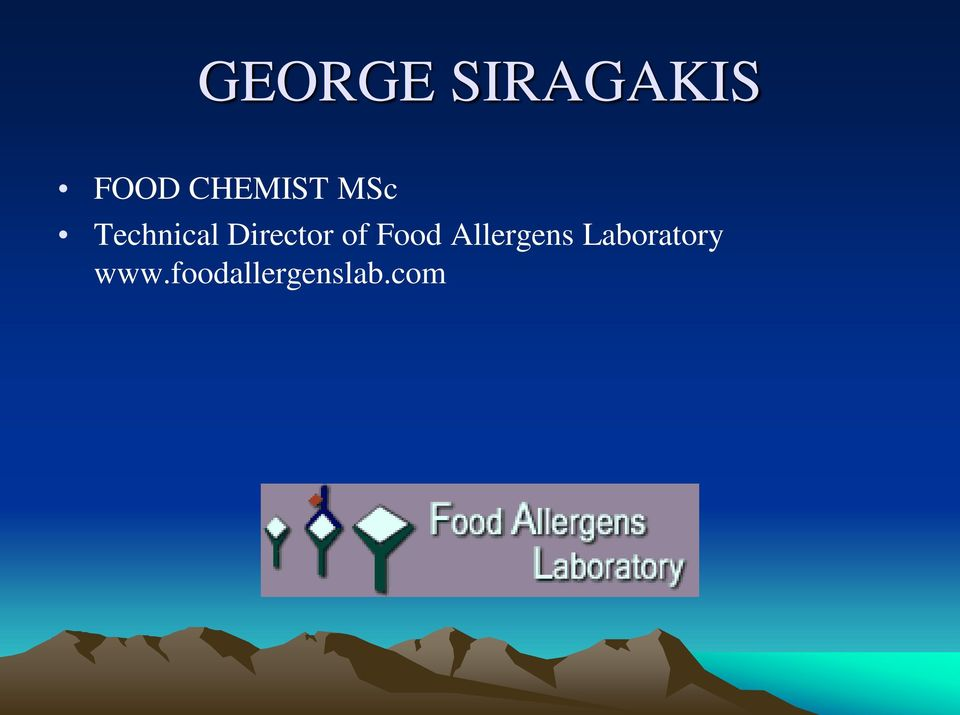 Director of Food Allergens