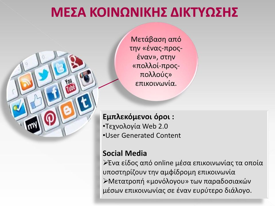 0 User Generated Content Social Media Ένα είδος από online μέσα επικοινωνίας τα