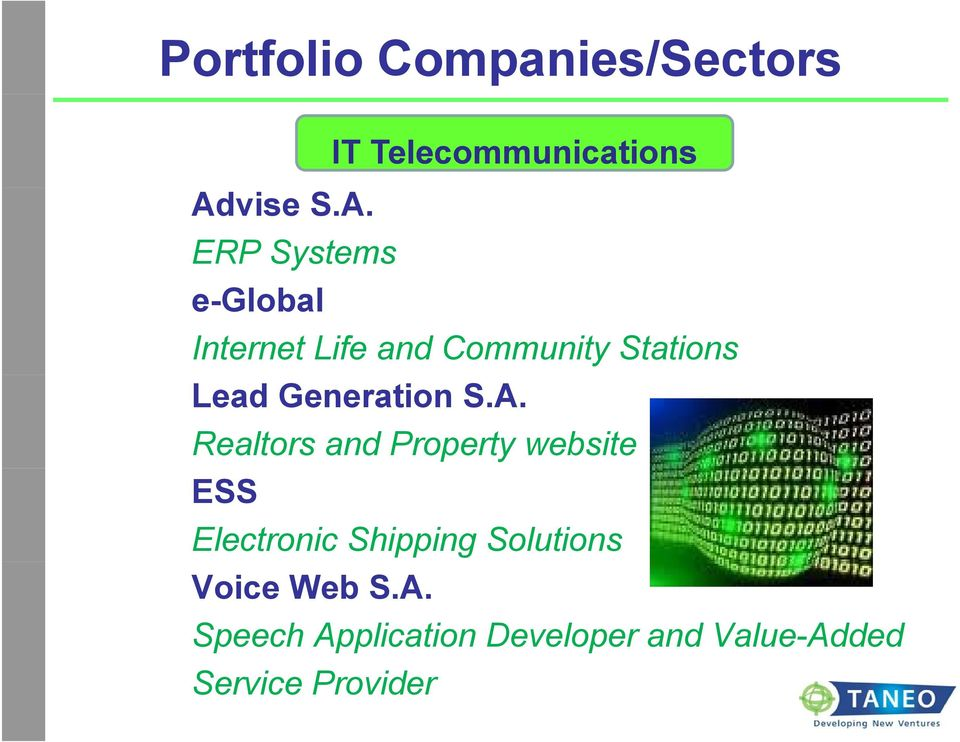 ERP Systems e-global Internet Life and Community Stations Lead