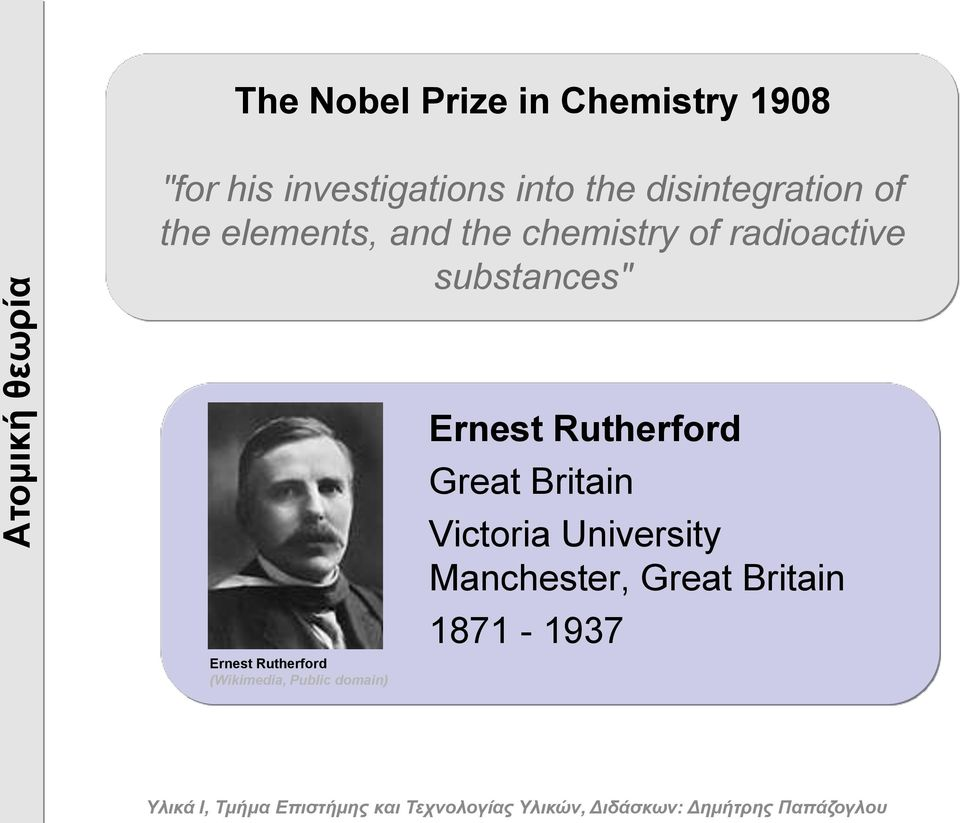"radioactive substances"" Ernest Rutherford (Wikimedia, Public domain)"