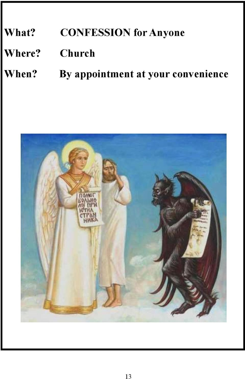 Church By appointment
