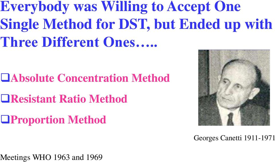 . Absolute Concentration Method Resistant Ratio Method