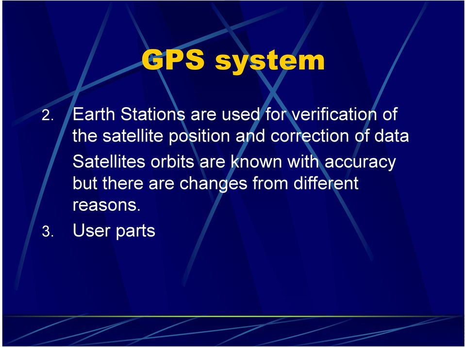 satellite position and correction of data