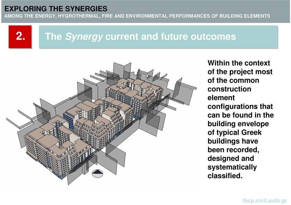 configurations that can be found in the building envelope of