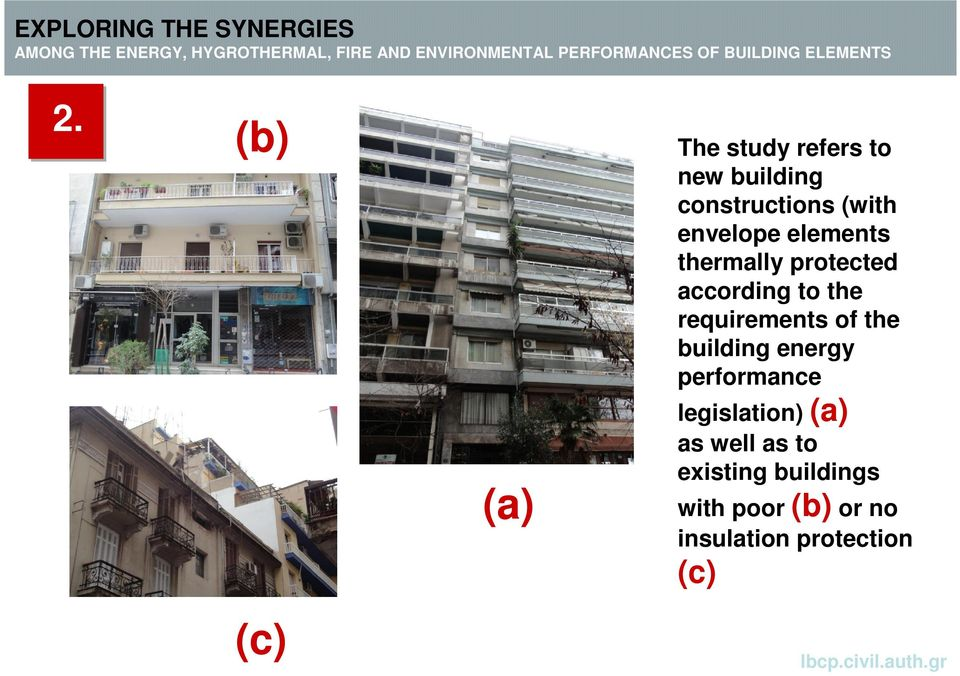 requirements of the building energy performance legislation) (a)