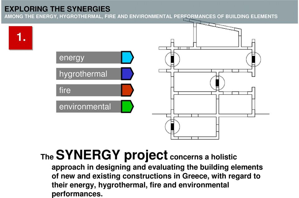 building elements of new and existing constructions in Greece,