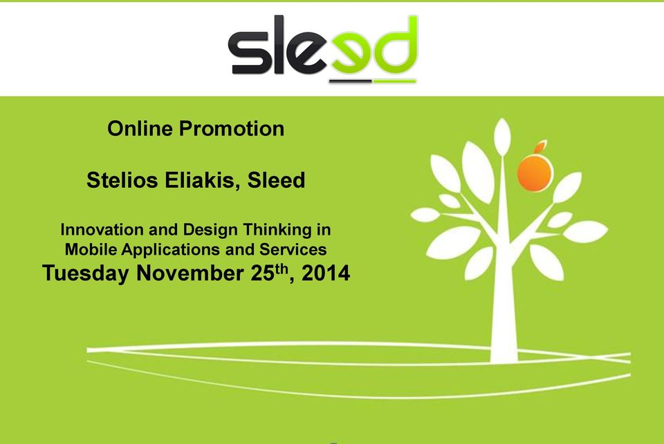 Eliakis, Sleed Μέτρηση Innovation and Design Thinking