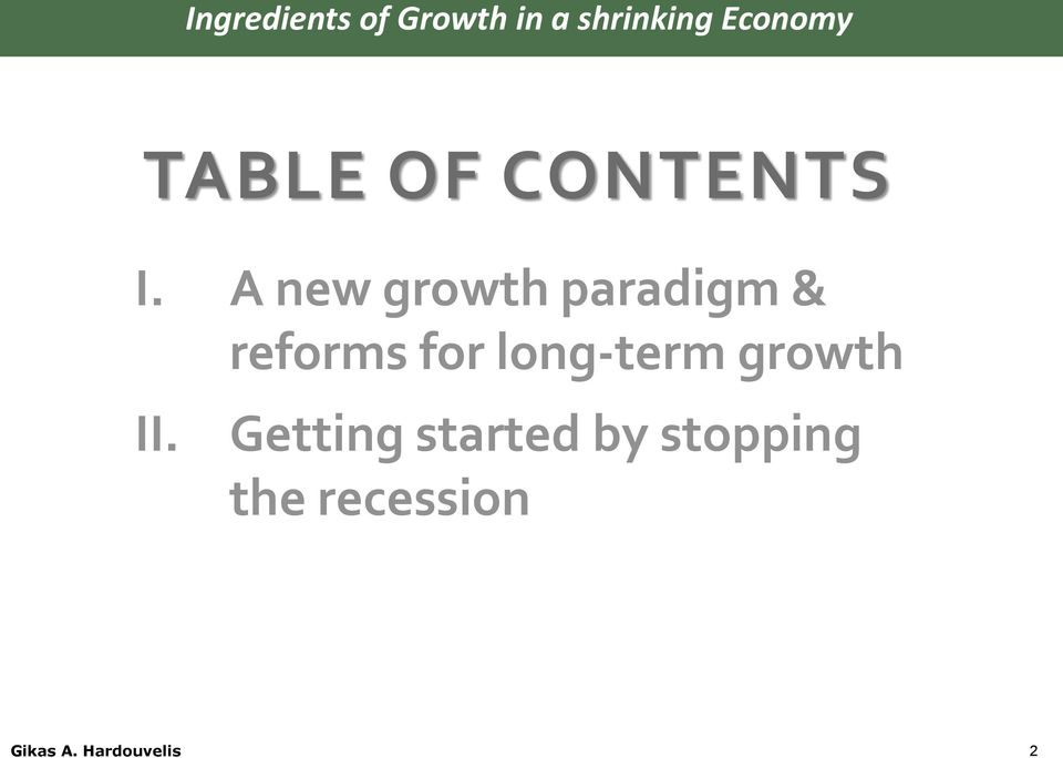 A new growth paradigm & reforms for