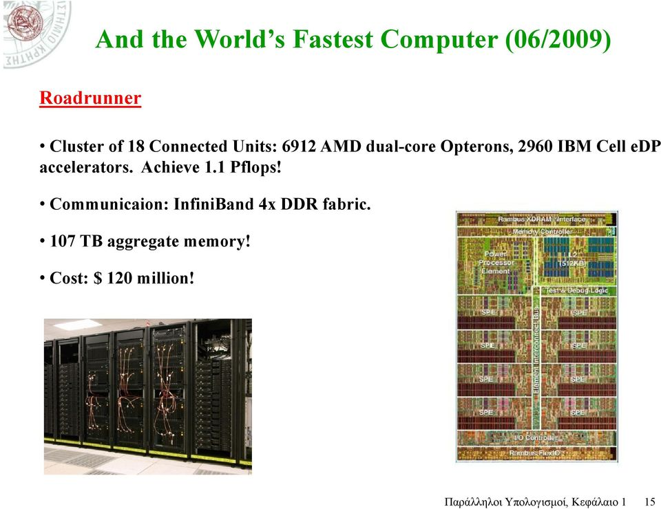 accelerators. Achieve 1.1 Pflops! Communicaion: InfiniBand 4x DDR fabric.