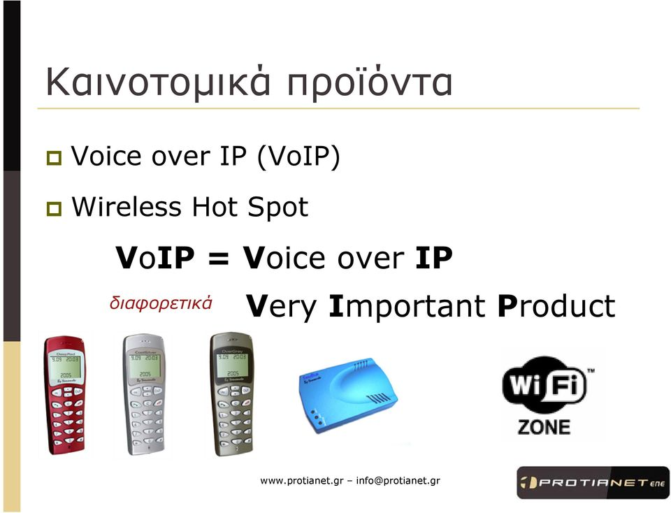 Spot VoIP = Voice over IP