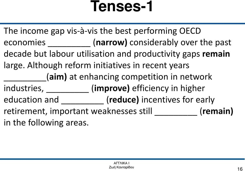 Although reform initiatives in recent years (aim) at enhancing competition in network industries,