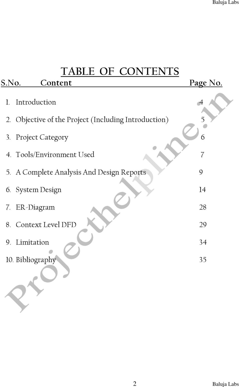 Tools/Environment Used 7 5. A Complete Analysis And Design Reports 9 6.