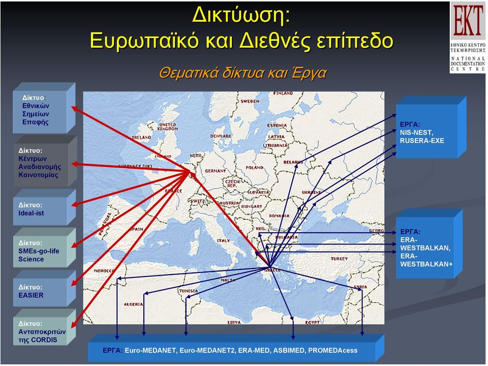 Ideal-ist ίκτυο: SMEs-go-life Science ΕΡΓΑ: ERA- WESTBALKAN, ERA- WESTBALKAN+ ίκτυο: