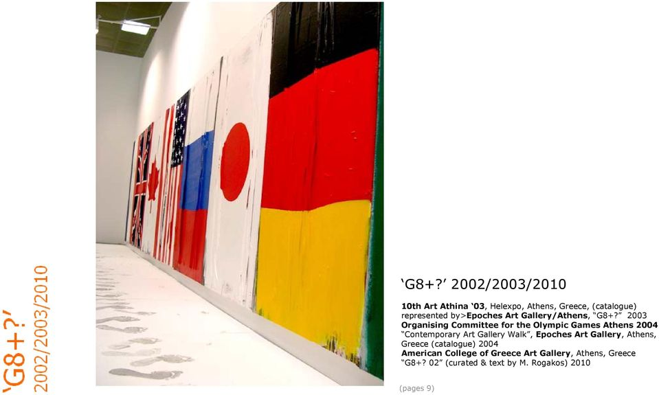 2003 Organising Committee for the Olympic Games Athens 2004 Contemporary Art Gallery Walk,