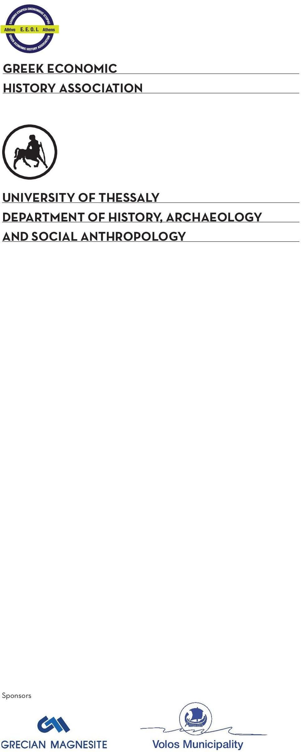 OF HISTORY, ARCHAEOLOGY AND SOCIAL