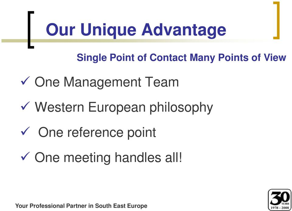 European philosophy One reference point One
