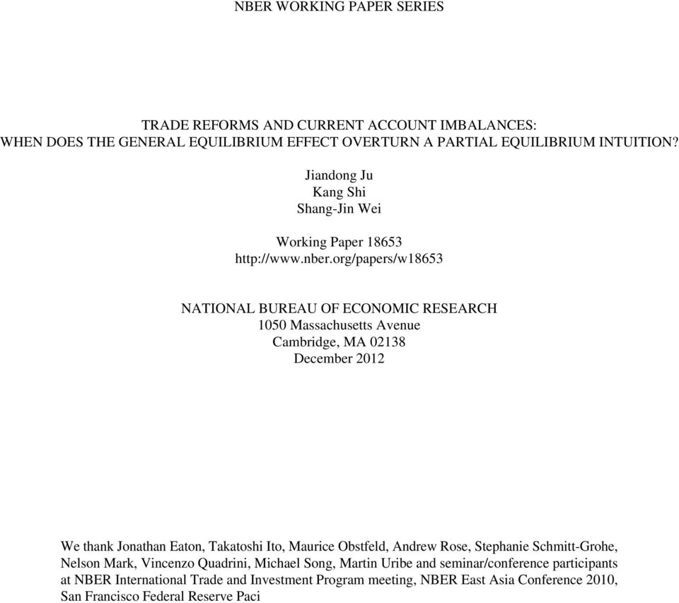national bureau of economic research nber working papers Nber (national bureau of economic research) is a leading private nonprofit economic organization composed of 600 professors of economics and business now teaching at universities, who are experts in their fields they are commited to the dissemination of economic research among the academic community working.