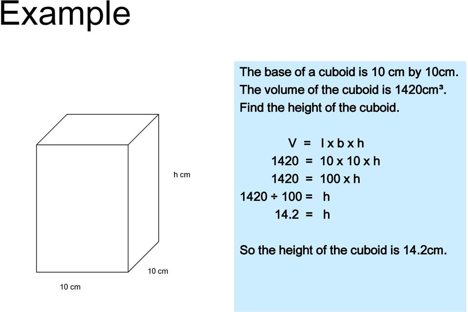 Find the height of the cuboid.