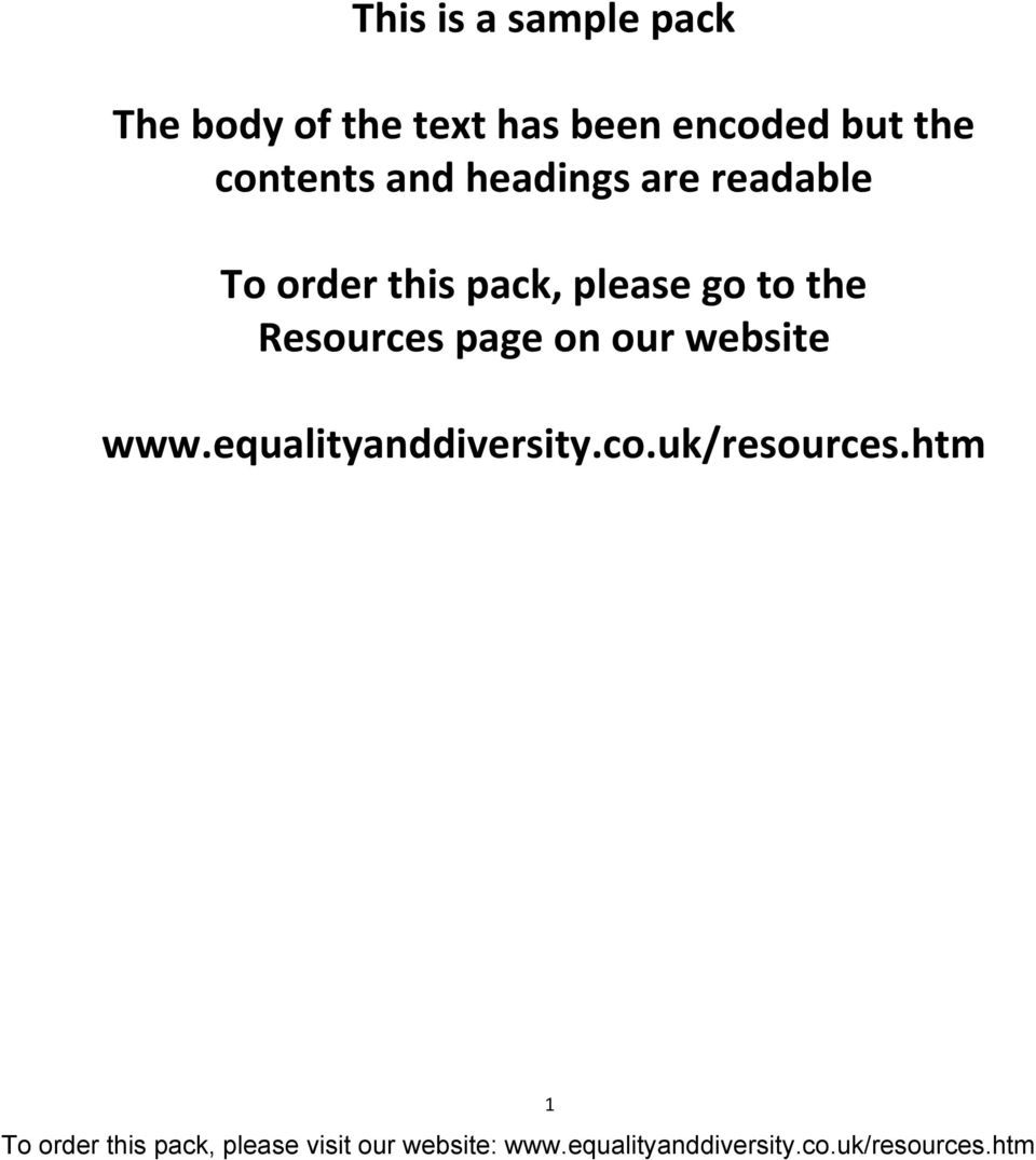 order this pack, please go to the Resources page on