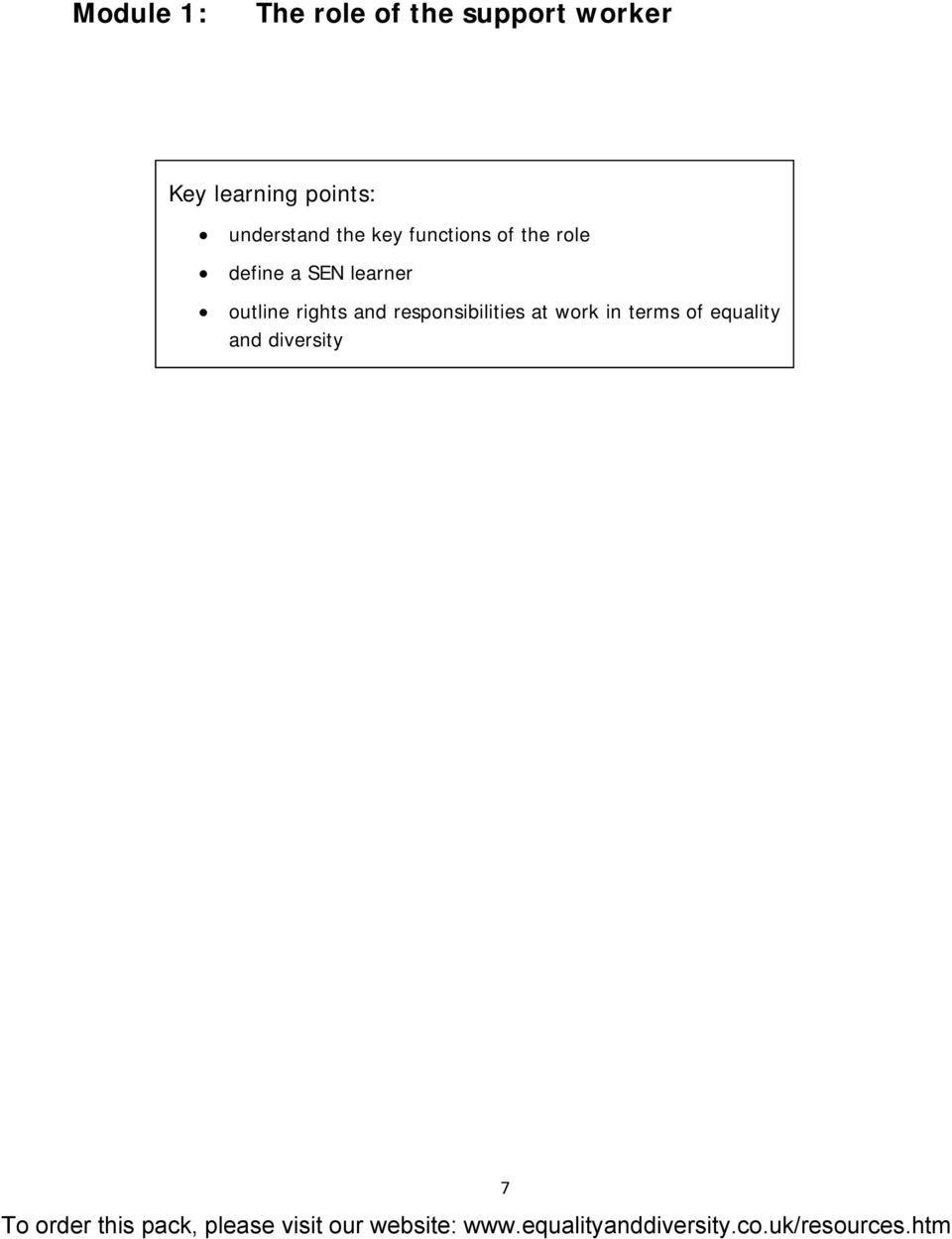the role define a SEN learner outline rights and