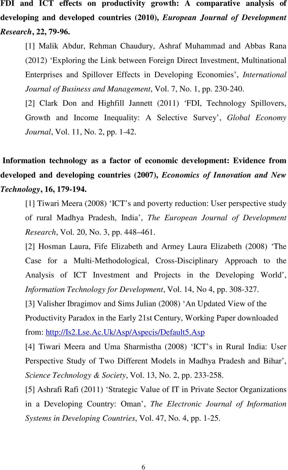 International Journal of Business and Management, Vol. 7, No. 1, pp. 230-240.