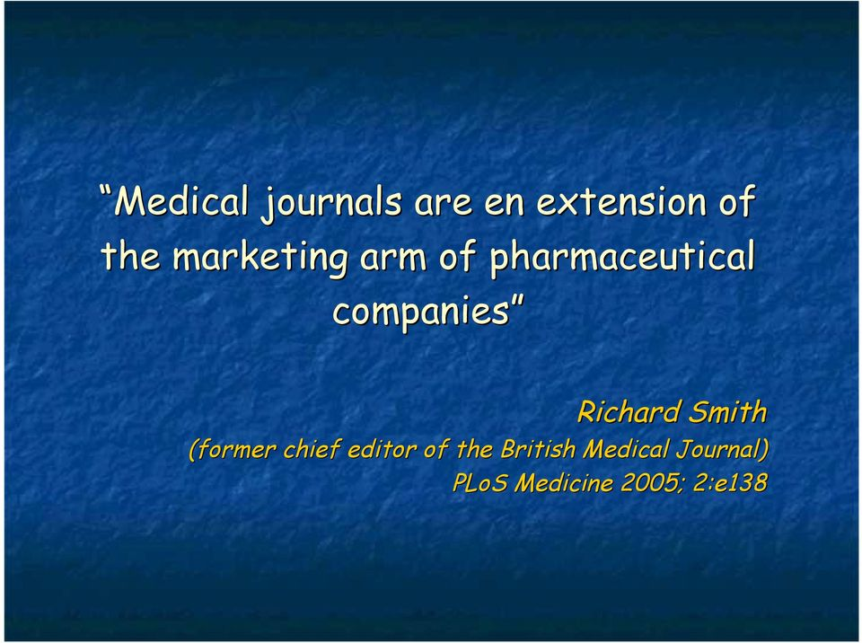 Richard Smith (former chief editor of the