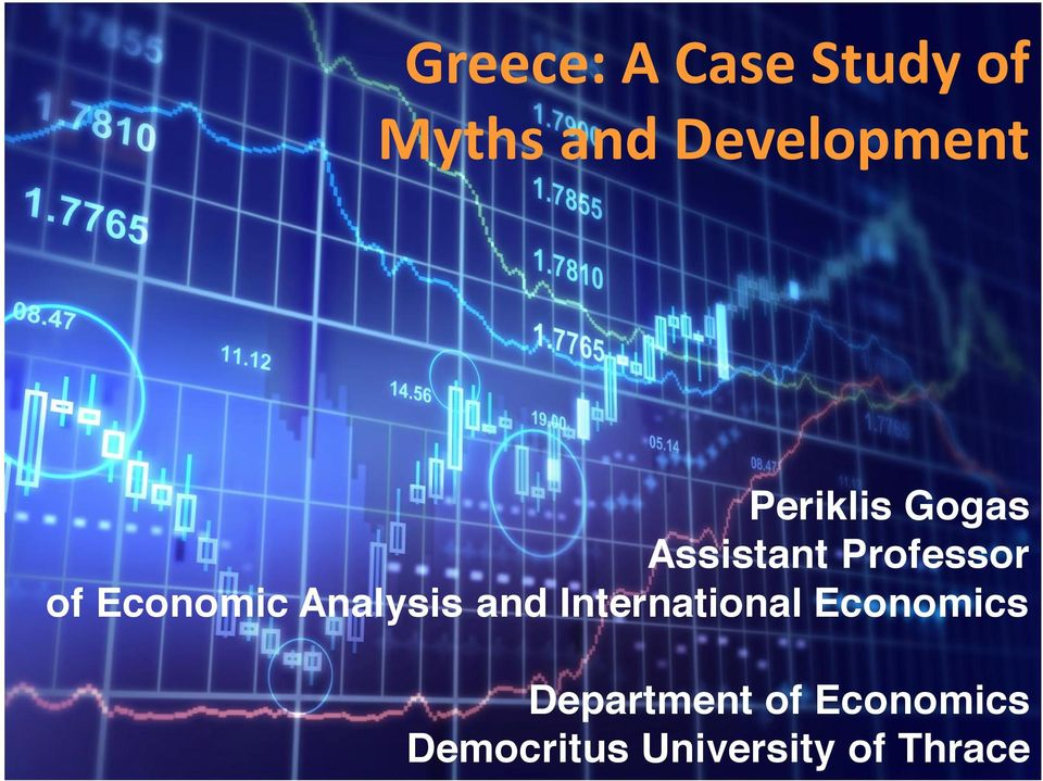 Analysis and International Economics
