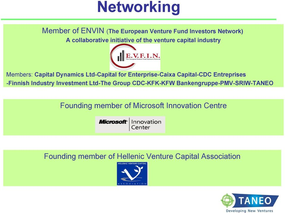 Capital-CDC Entreprises -Finnish Industry Investment Ltd-The Group CDC-KFK-KFW