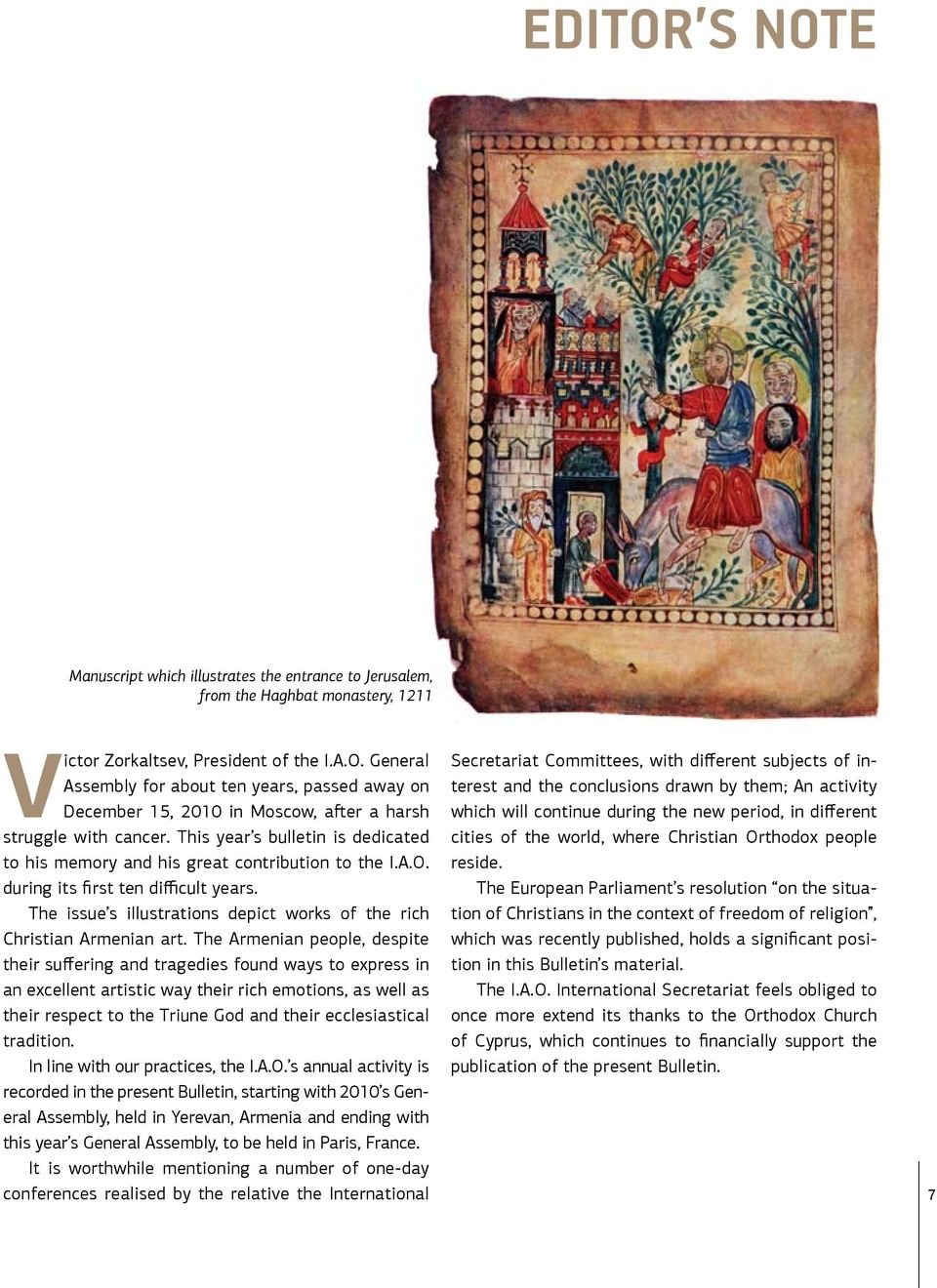 The issue s illustrations depict works of the rich Christian Armenian art.
