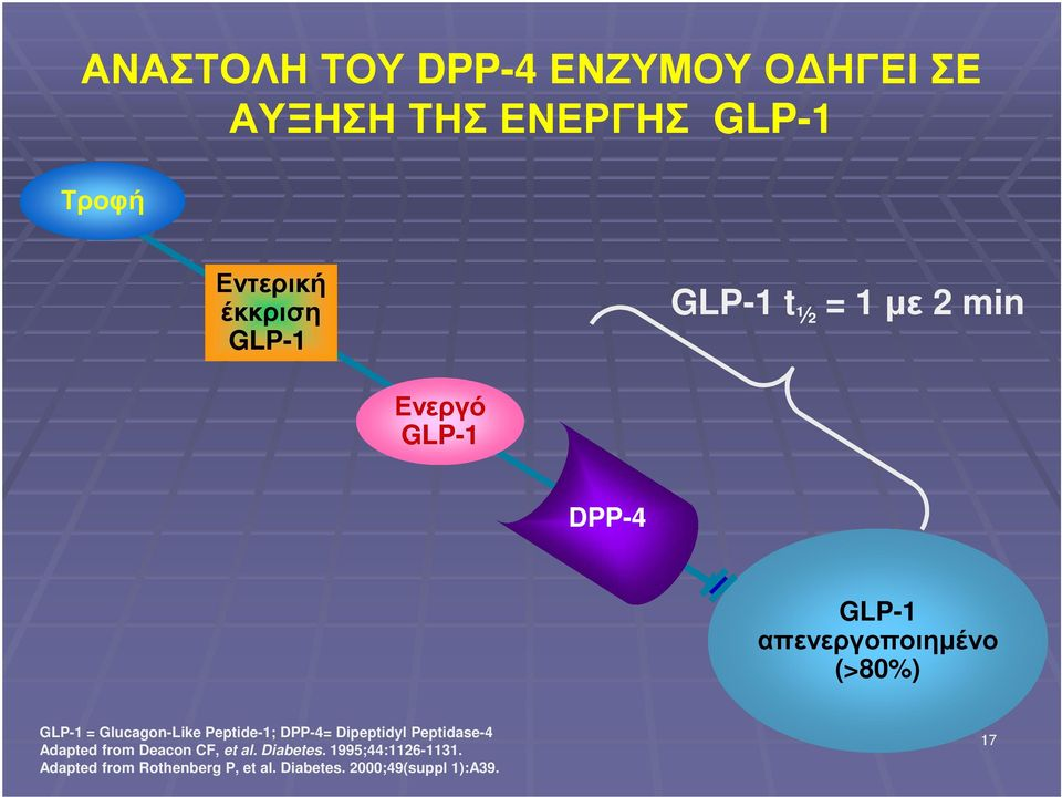 Glucagon-Like Peptide-1; DPP-4= Dipeptidyl Peptidase-4 Adapted from Deacon CF, et al.