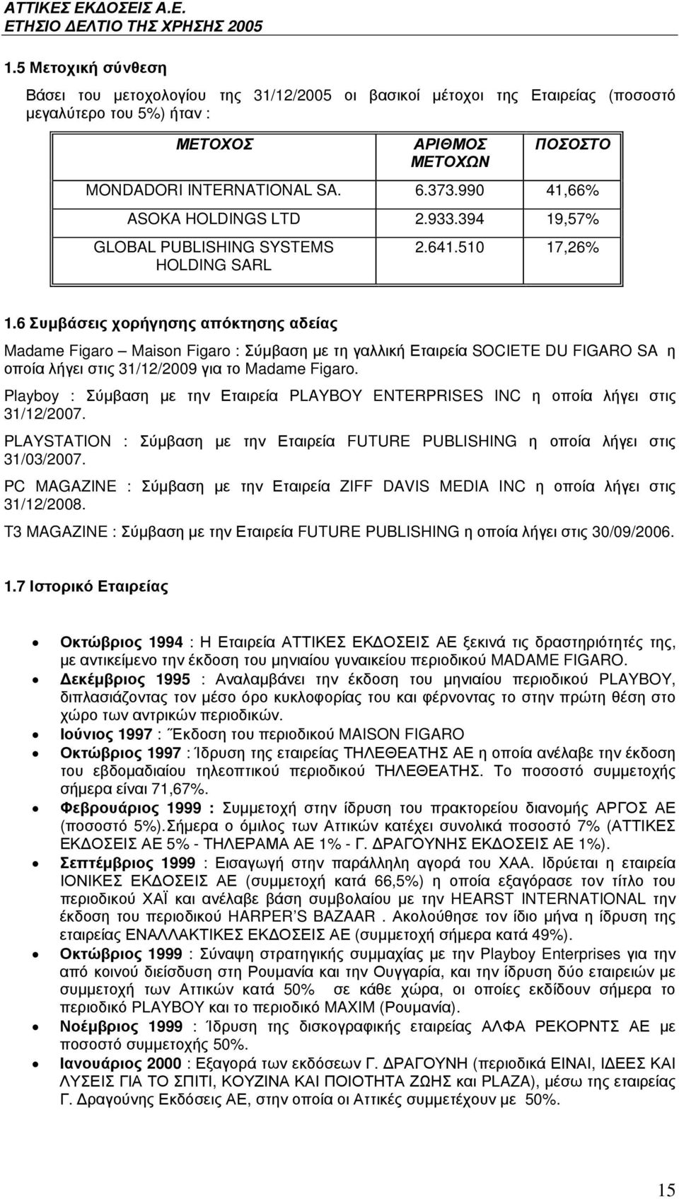 PLAYBOY ENTERPRISES INC FUTURE PUBLISHING ZIFF DAVIS MEDIA INC T3 MAGAZINE : *) FUTURE PUBLISHING 30/09/2006. 1.7 %(*) (%,# *.+%(# 1994 : &! ' (, ( (* MADAME FIGARO.