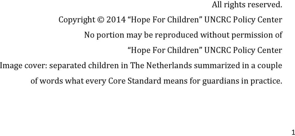 reproduced without permission of Hope For Children UNCRC Policy Center Image