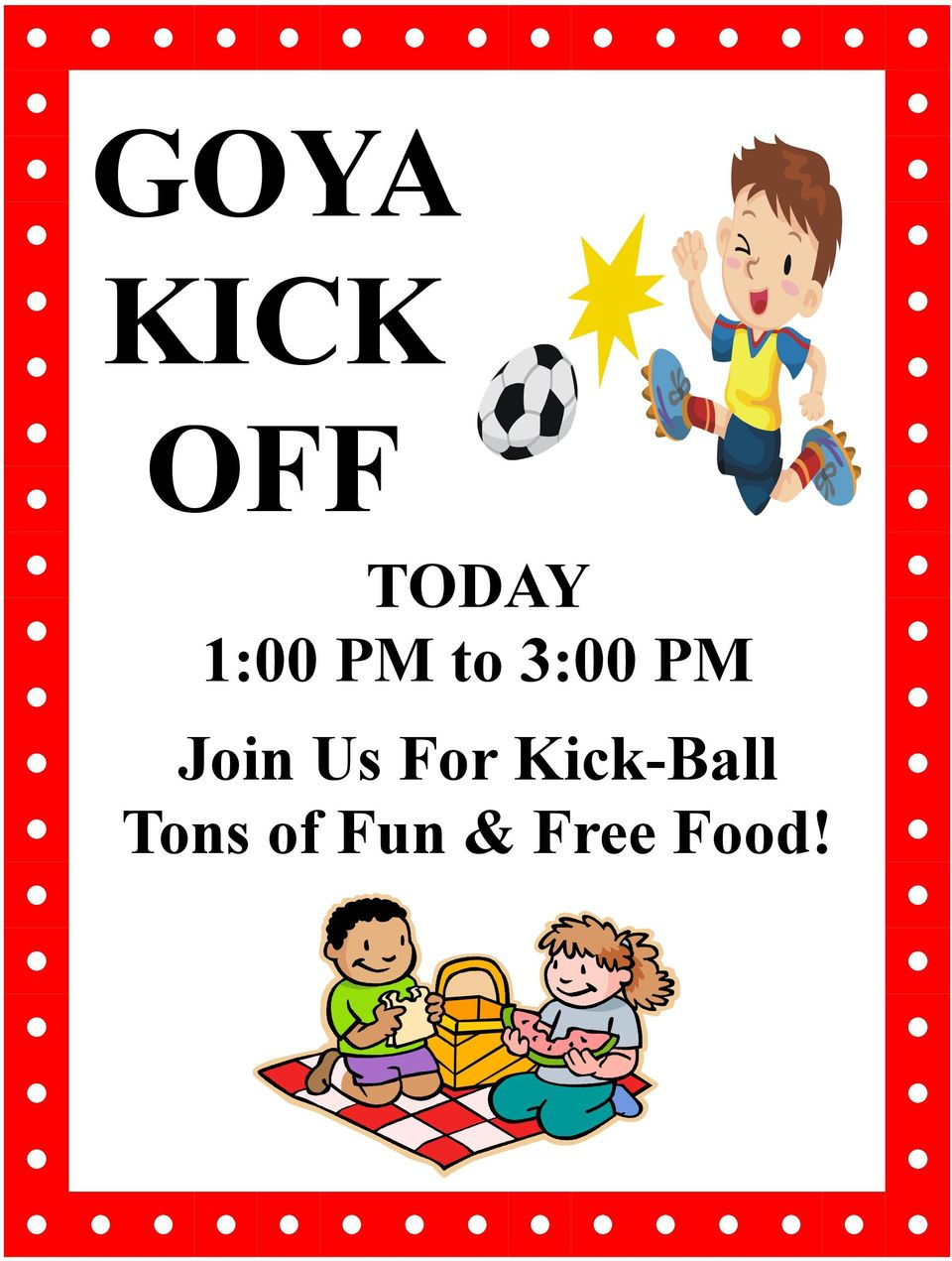 Join Us For Kick-Ball