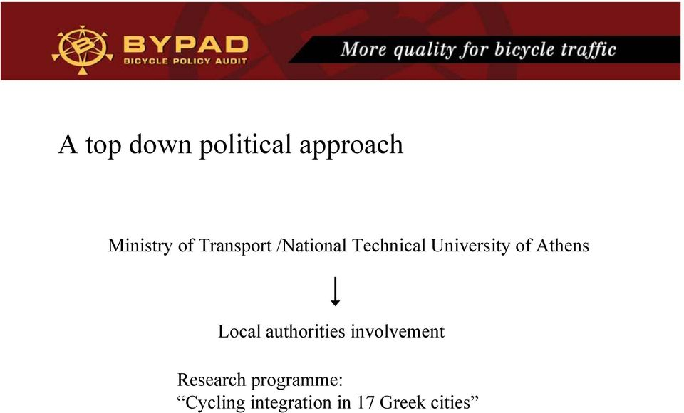 Athens Local authorities involvement Research