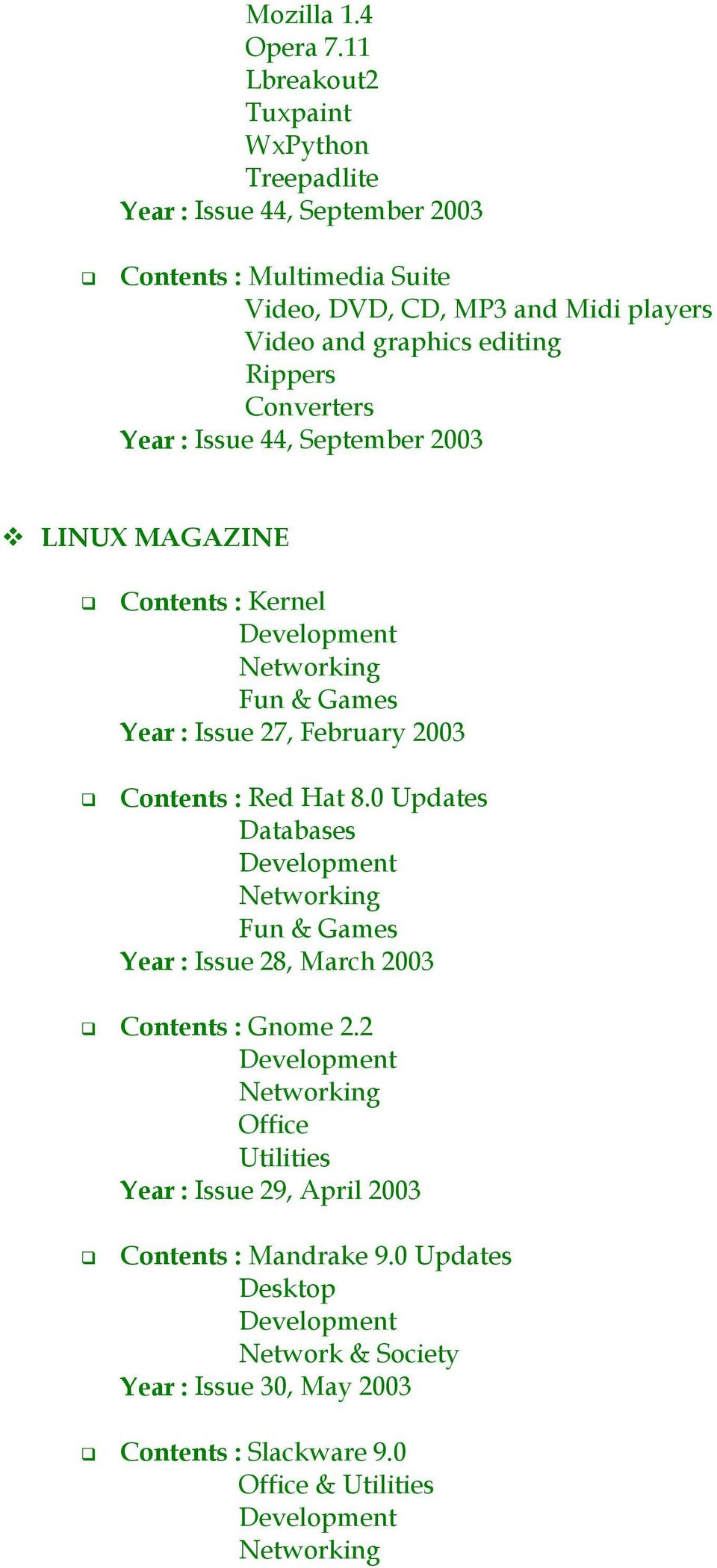 editing Rippers Converters Year : Issue 44, September 2003!