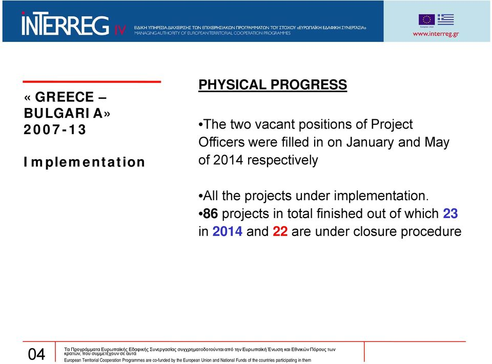 respectively All the projects under implementation.